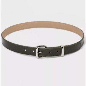 Ava & Viv   Faux Leather Green Belt 3XL NWT